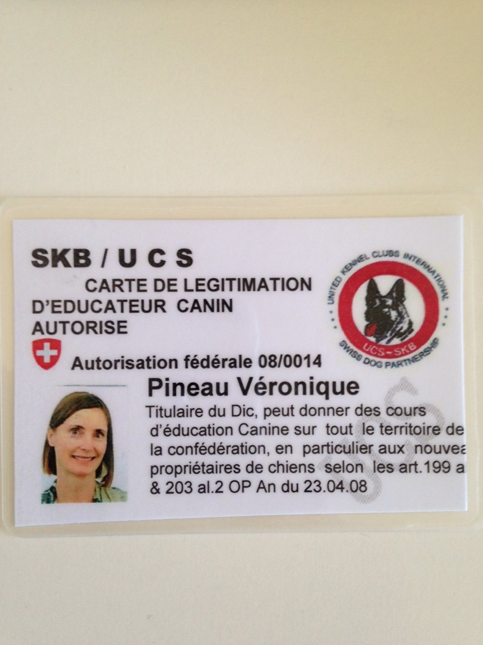 dog trainer id card